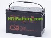 Batería para Caravana 12v 100ah Plomo AGM GP121000 CSB